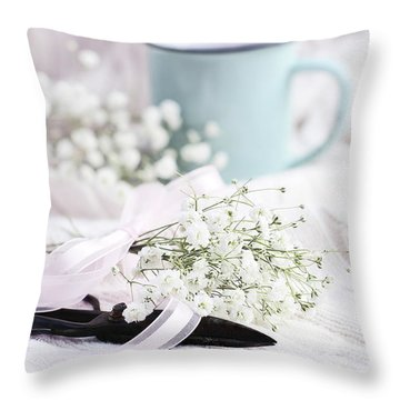 Throw Pillow featuring the photograph Bouquet Of Baby's Breath by Stephanie Frey
