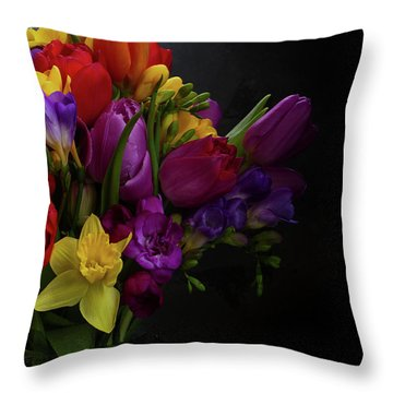 Flowers Dutch Style Throw Pillow