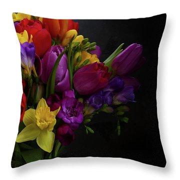 Flowers Dutch Style Throw Pillow