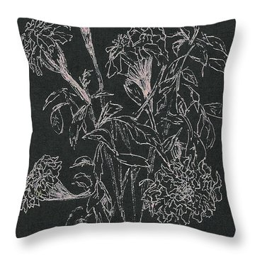 Throw Pillow featuring the painting Bouquet Of Flowers  by Vicki  Housel