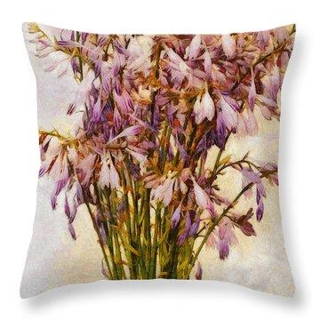 Bouquet Of Hostas Throw Pillow