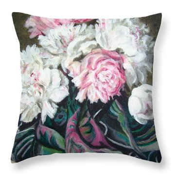 Bouquet Of Peonies Throw Pillow