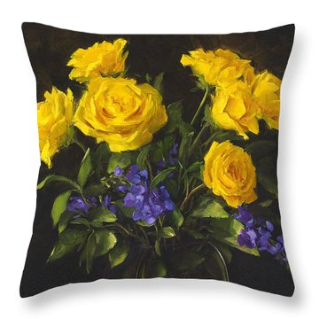 Bouquet Of Sunshine Throw Pillow