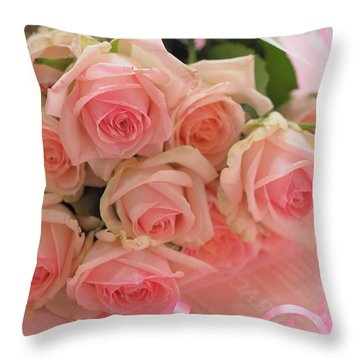 Bouquet Of Sweetness Throw Pillow by Rachel Mirror