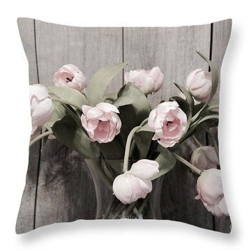 Bouquet Of Tulips Throw Pillow