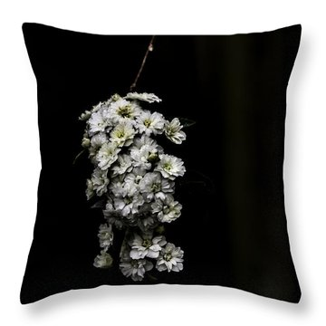 Bouquet Of White Throw Pillow