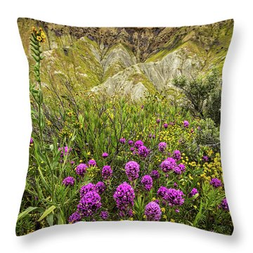 Throw Pillow featuring the photograph Bouquet by Peter Tellone