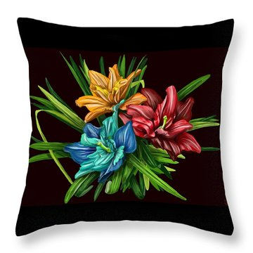 Bouquet#1 Throw Pillow