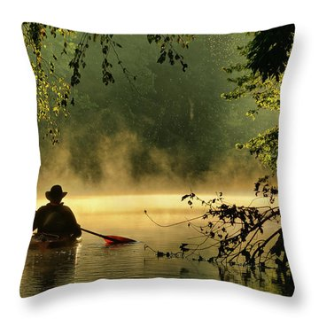 Bourbeuse River  Throw Pillow by Robert Charity