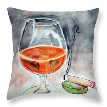 Bourbon And Smoke Throw Pillow