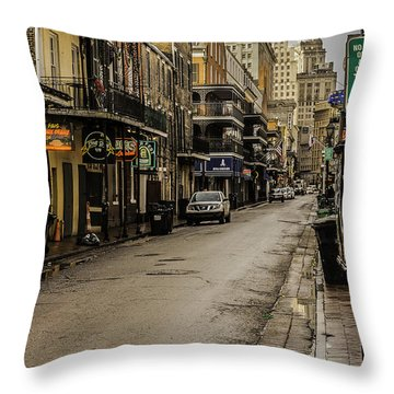 Bourbon Street By Day Throw Pillow