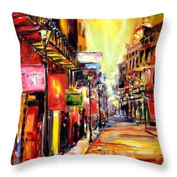 Bourbon Street Dazzle Throw Pillow by Diane Millsap
