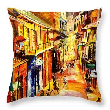 Bourbon Street Glitter Throw Pillow by Diane Millsap