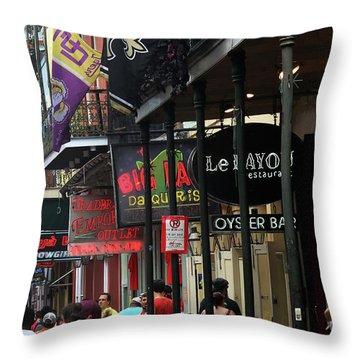 Throw Pillow featuring the photograph Bourbon Street by Steven Spak