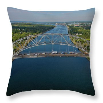 Bourne Bridge, Ma Throw Pillow