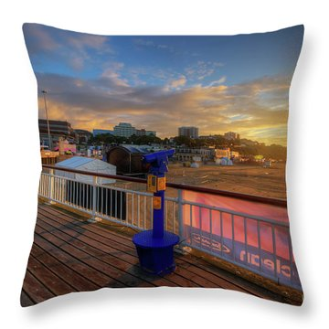 Throw Pillow featuring the photograph Bournemouth Pier Sunrise by Yhun Suarez