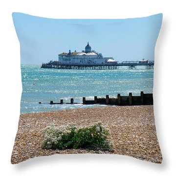 Bournemouth Seaside View Throw Pillow