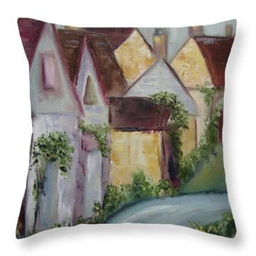 Bourton On The Water Throw Pillow by Roxy Rich