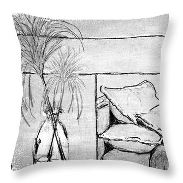 Spa Day Throw Pillow by Barbara Andolsek