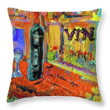 Boutique De Vins Francais 4 Throw Pillow