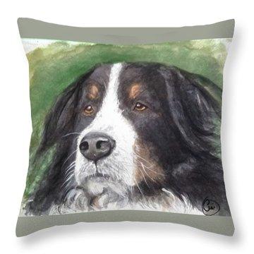 Bouvier Bernois Throw Pillow