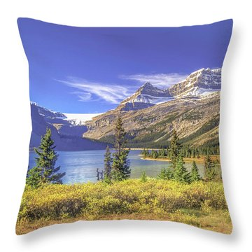 Throw Pillow featuring the photograph Bow Lake 2005 01 by Jim Dollar