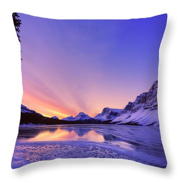 Bow Lake And Pine Throw Pillow