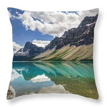 Throw Pillow featuring the photograph Bow Lake by Christina Lihani