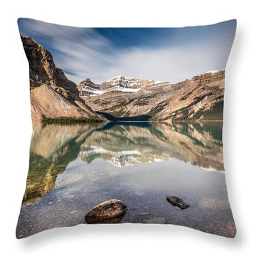 Bow Lake Glorious Reflection Throw Pillow