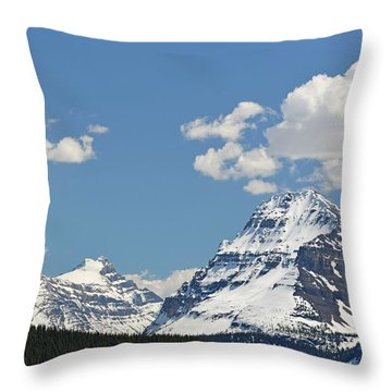 Bow Lake Mountains Throw Pillow