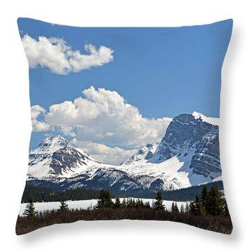 Bow Lake Vista Throw Pillow