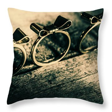Bow Tie Event Throw Pillow