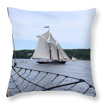 Bowditch Under Full Sail Throw Pillow