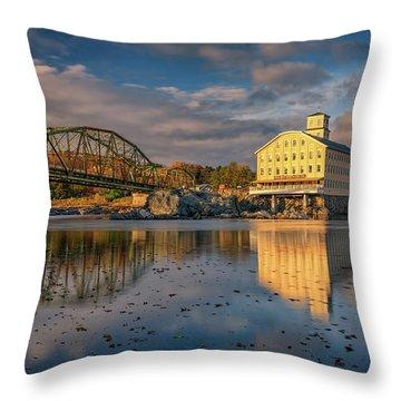 Throw Pillow featuring the photograph Bowdoin Mill by Rick Berk