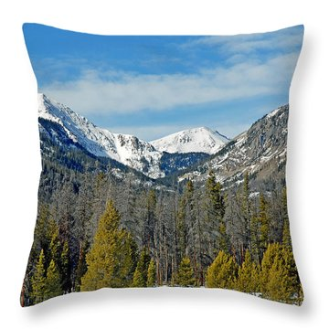 Bowen Mountain In Winter Throw Pillow