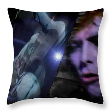 Bowie   A Welcome Star Throw Pillow