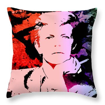 Bowie Alive In Color Throw Pillow