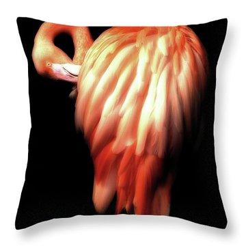 Bowie Flamingo Throw Pillow