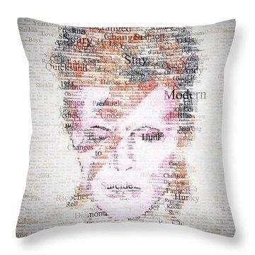 Bowie Typo Throw Pillow