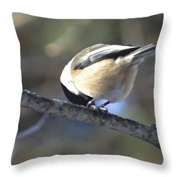Bowing On A Branch Throw Pillow