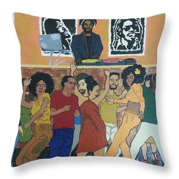 Bowl Train Throw Pillow