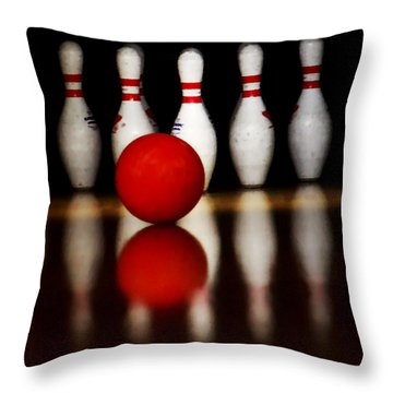 Bowling Reflections Throw Pillow