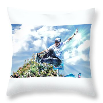 Bowlriders, Skateboarder Throw Pillow