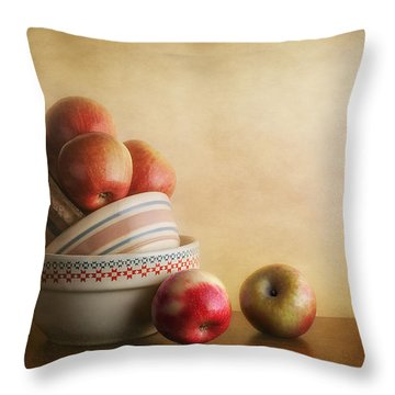 Bowls And Apples Still Life Throw Pillow