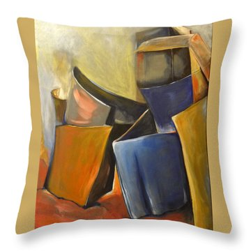 Box Scape Throw Pillow