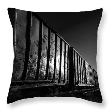 Boxcar Sunrise Throw Pillow by Bob Orsillo