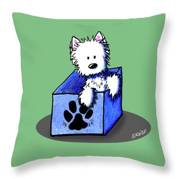 Boxed In Cuteness Throw Pillow by Kim Niles
