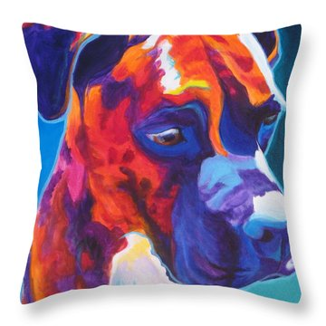 Boxer - Jax Throw Pillow by Alicia VanNoy Call