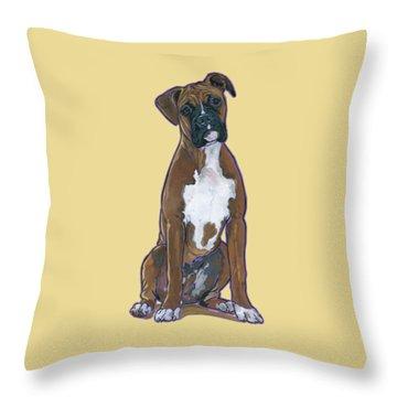 Boxer Bentley Throw Pillow