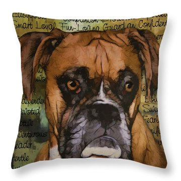 Boxer Character Throw Pillow